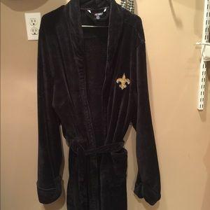 New Orleans Saints Robe ~ size L/XL